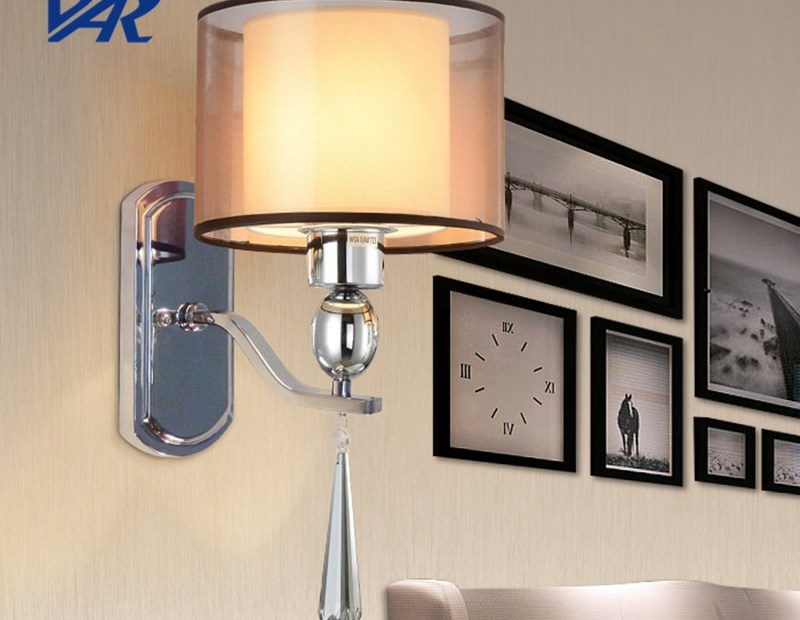 europe fabric shade wall light delicate wall mounted