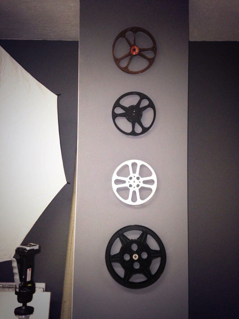 film reels to decorate the photography studio i just love