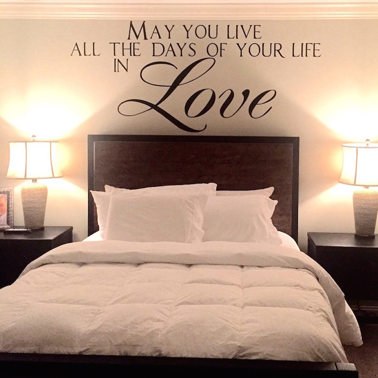 love vinyl quote decal for bedrooms wall sayings