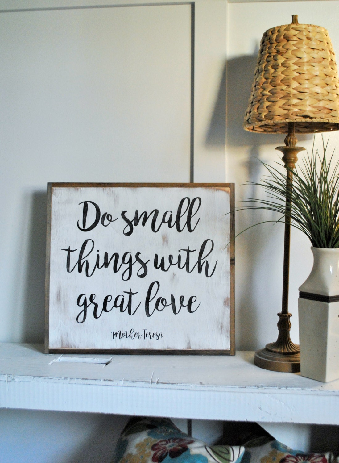 small things distressed wooden wall art painted wall decor