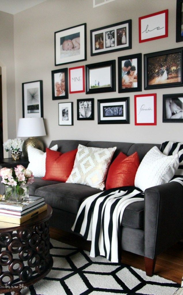 this is our bliss red living room decor black living