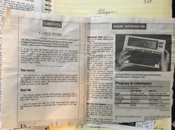 Tandy TRS-80 Model 100 News Article