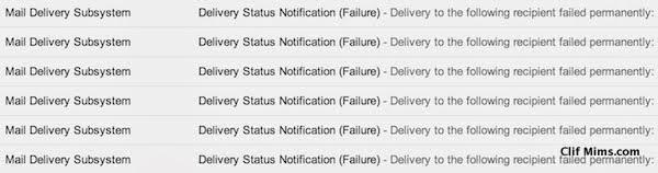 Email Failure