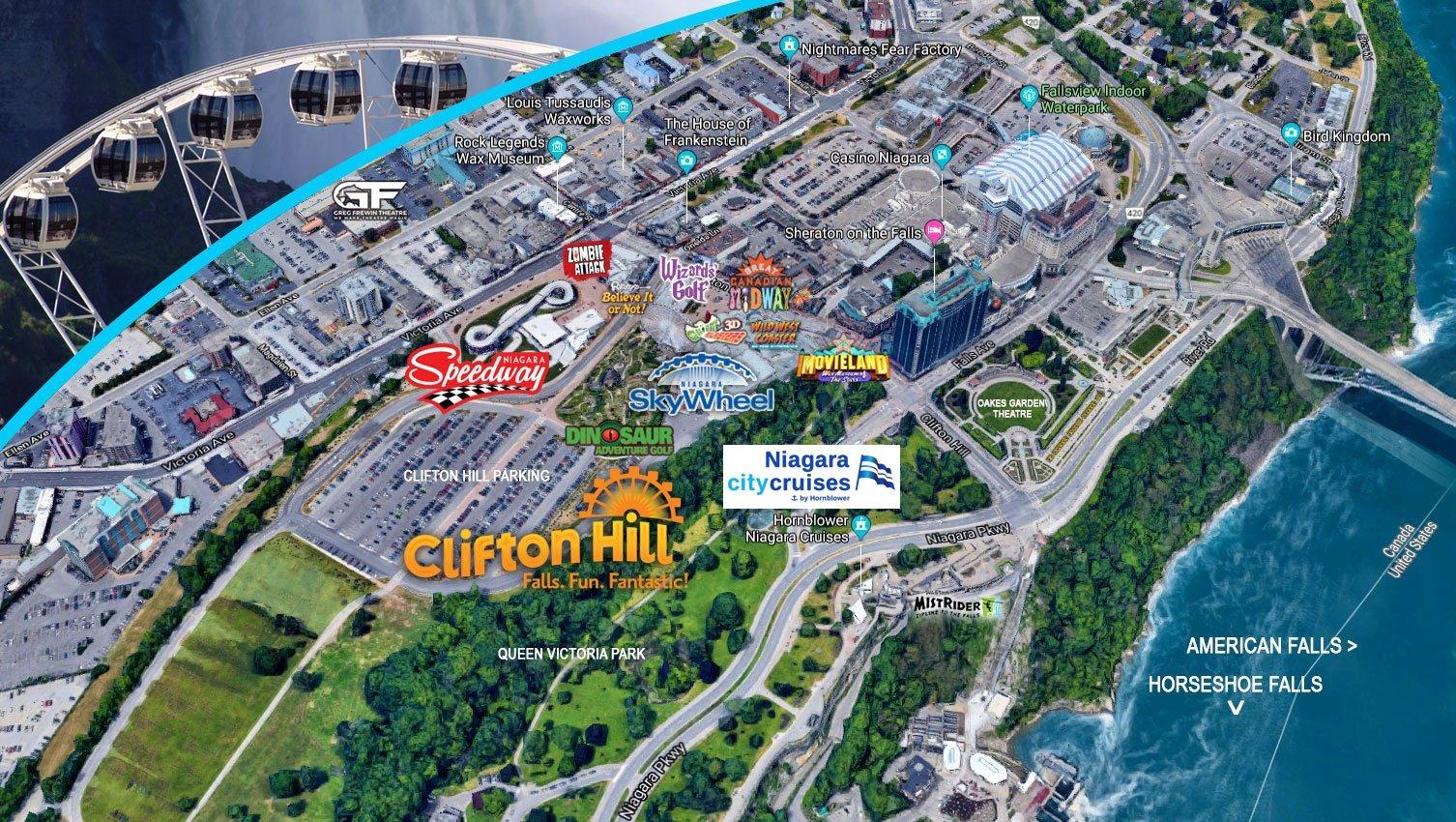 Thanksgiving Niagara Falls Map