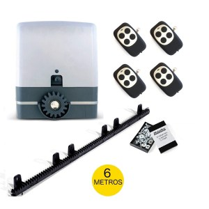 Kit motor puerta corredera VDS Simply con 6 mts cremallera nylon