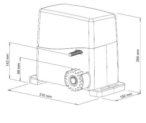 Kit VDS AG Future 1600 KG motor puerta corredera