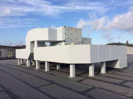Luchtbehandeling op dak van retailzaak in eindhoven ekkersweijer