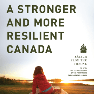 Canadian Prime Minister's Throne Speech Sets Forward a Sweeping Climate Mitigation Agenda