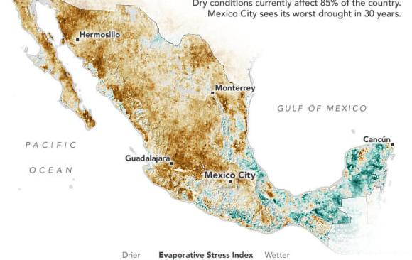 Mexico Has Seen Increase in Severe Drought Over Last Few Years
