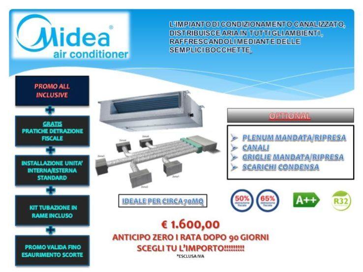 Condizionatore monosplit canalizzato pompa di calore classe energetica A++ dotato di refrigeranteR32 a partire da € 1.600,00 installazione inclusa