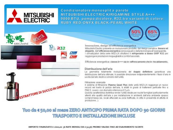 Condizionatore monosplit a parete Mitsubishi Electric KIRIGAMINE STYLE