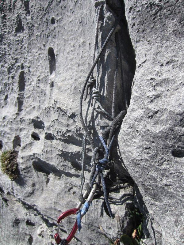 Belay at top of Haxering