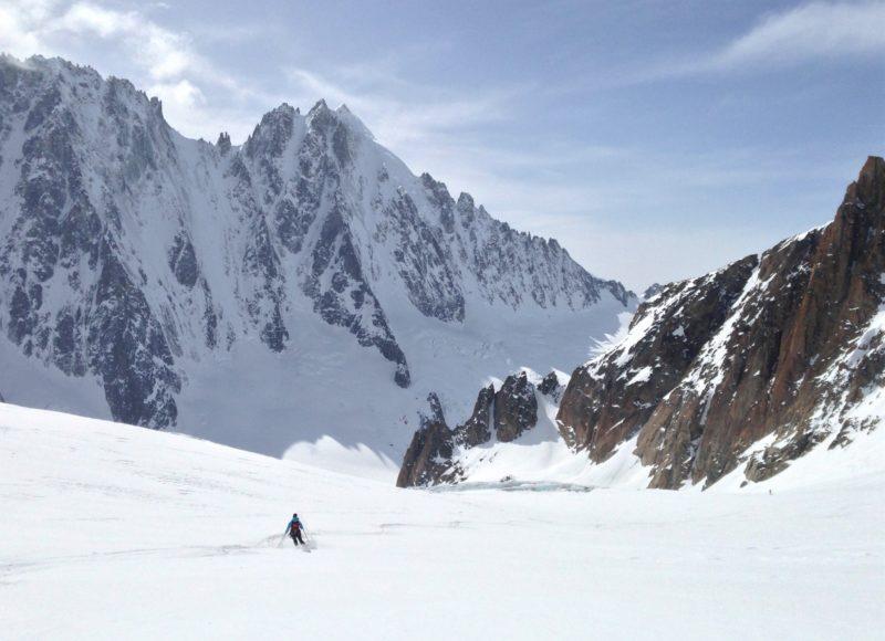 Descent from Col du Tour Noir