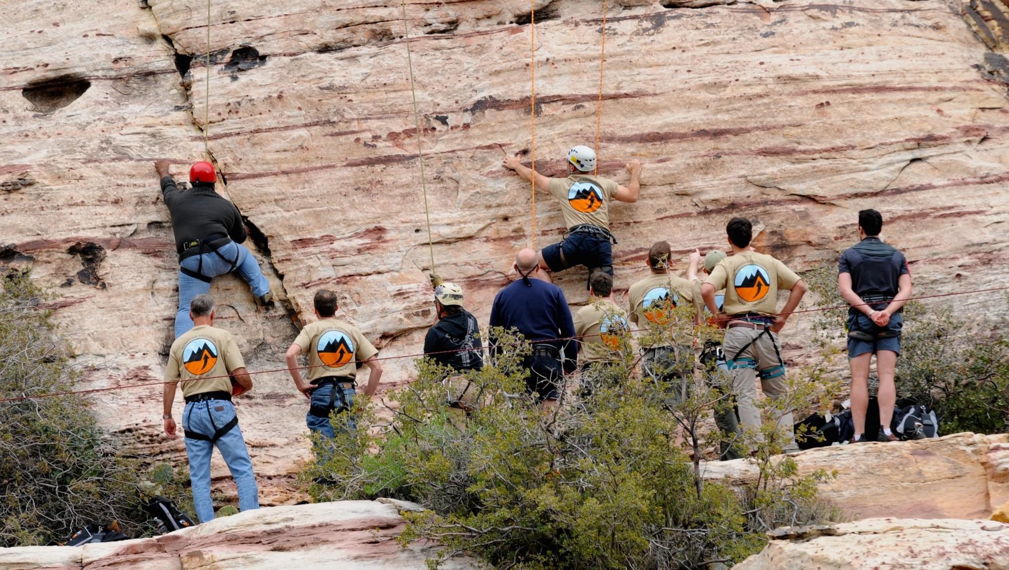 Las Vegas Corporate Team Building Mountain Skills Rock