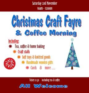 Christmas Craft Fayre Nov 13 - for facebook
