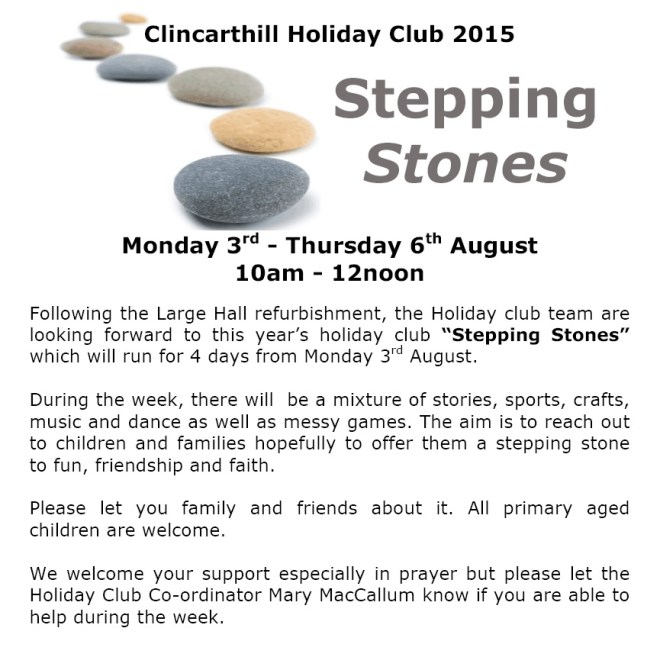 Holiday Club Notice 2015 - 2
