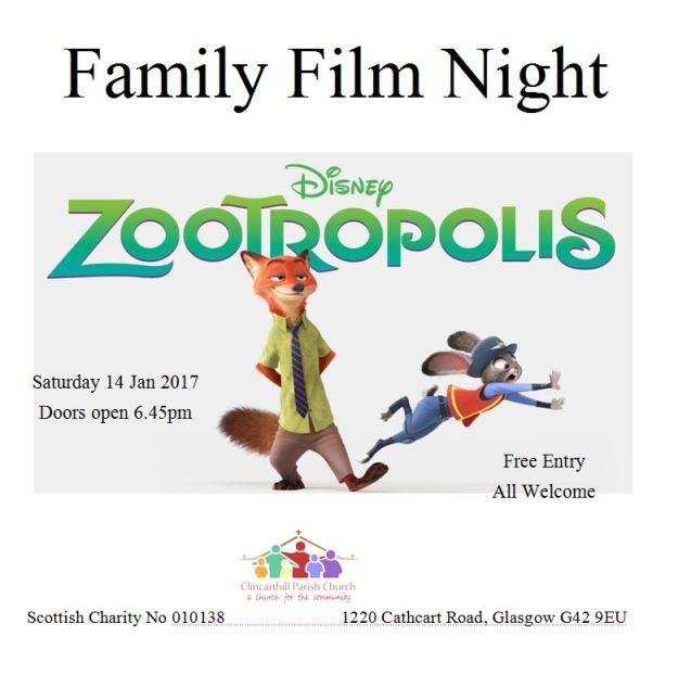 Film Night Zootropolis Jan 2017