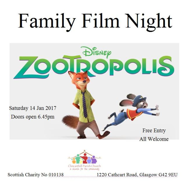 Film Night Zootropolis Jan 2017