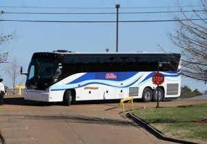 Cline bus taking BB team