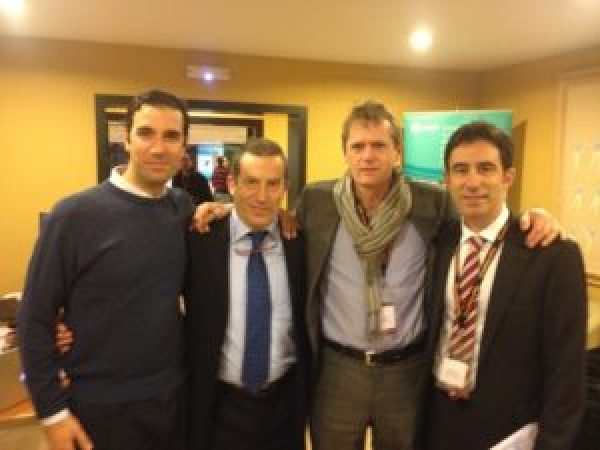 Drs Bernladez,Altisench, Van Dyck y P Carro. 6 th International Arthrscopy Course
