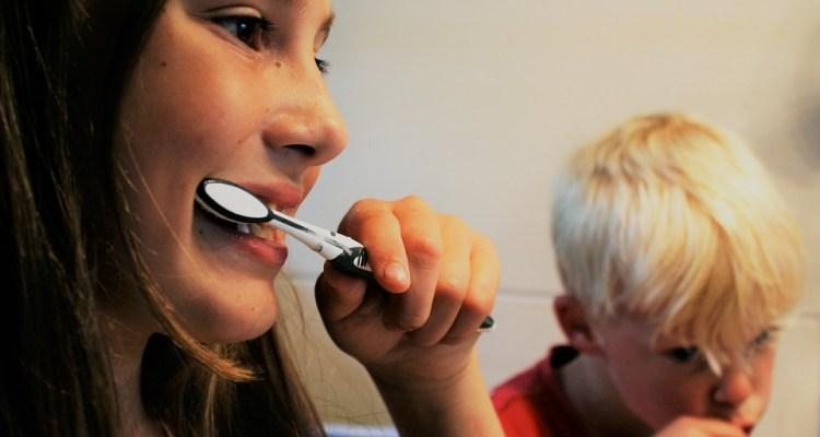 Cepillado de dientes en niños