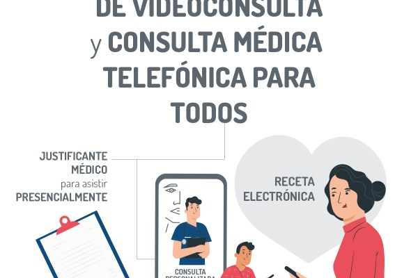 Nuevo servicio VIDEOCONSULTA o CONSULTA TELEFÓNICA
