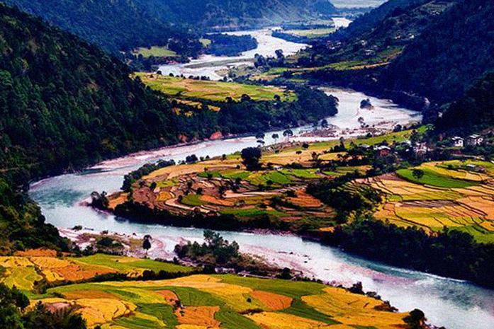 Controlar la ansiedad (Río Tsang Chhu, Bután).