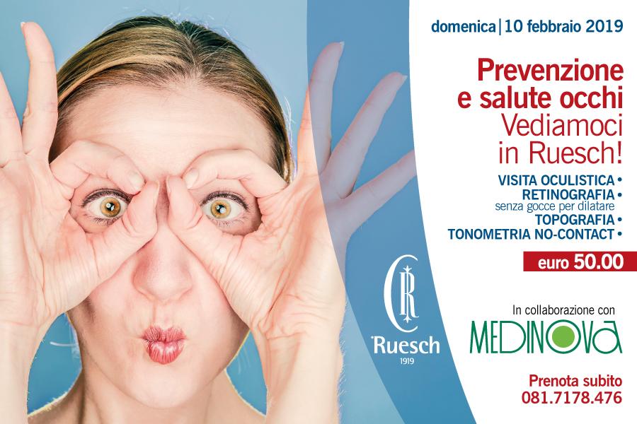 Prevenzione e salute occhi.Vediamoci in Ruesch!