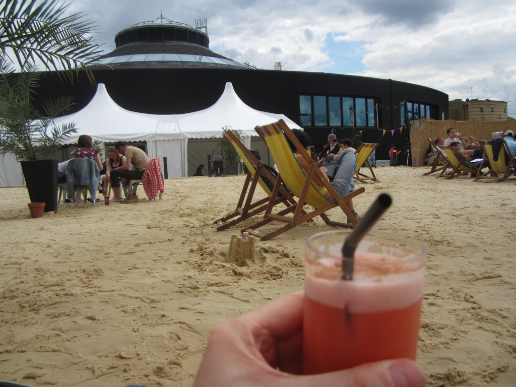 Roundhouse Beach at The Roundhouse Camden, August Bank Holiday Weekend 2017 in London