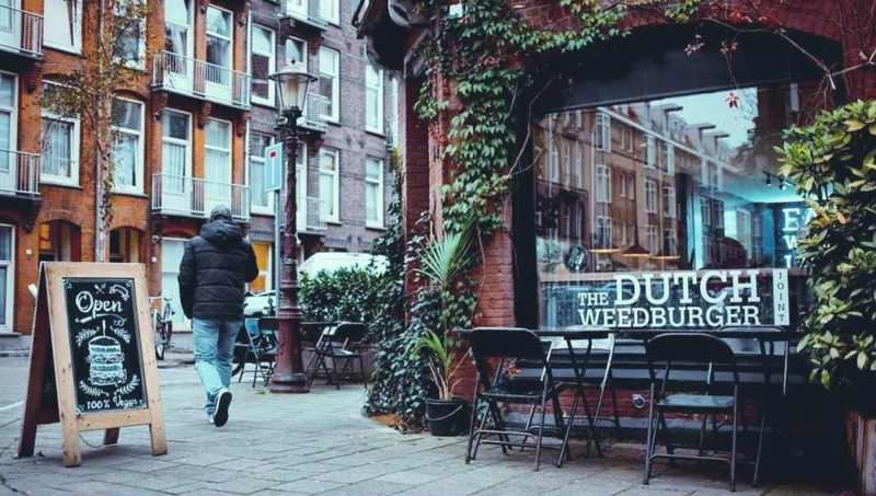 The Dutch Weed burger | Best Vegan Burgers in Amsterdam | Clink Hostels