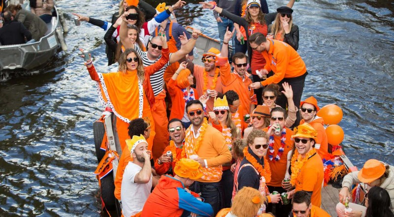 Amsterdam canals kings day how to make the most of kings day Clink Hostles