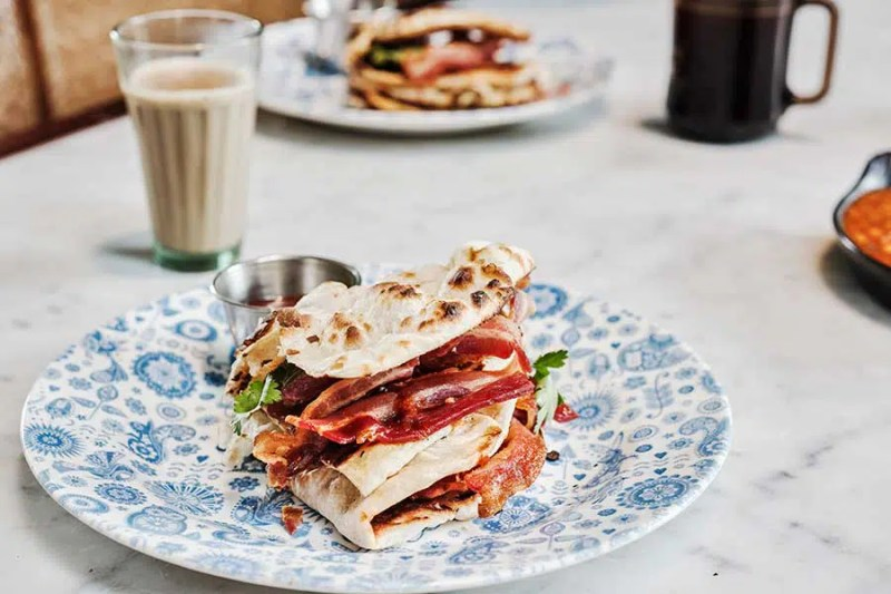 Dishoom Bacon Roll in London | Clink Hostels
