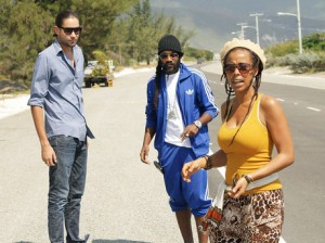 Tarrus Riley on location for the video shoot of Gimmi Likkle One Drop!