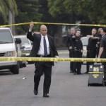 Police on the crime scene