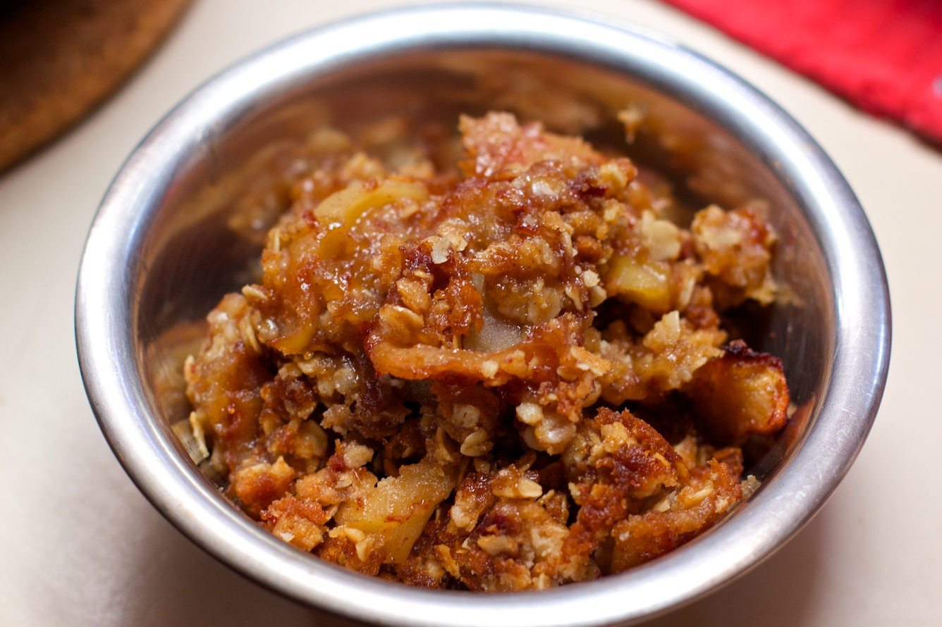 Recipe for Quick and Easy Apple Oatmeal Crisp