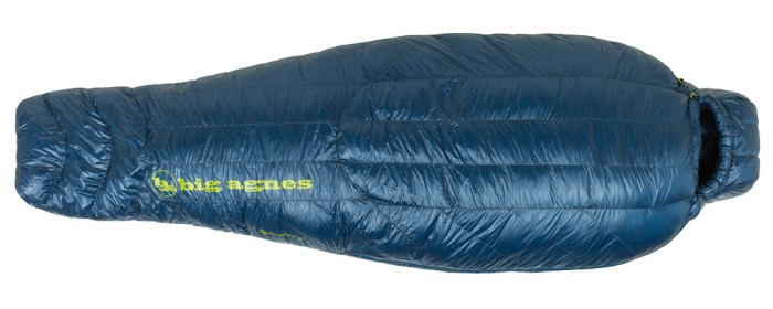 Big Agnes UL Flume 30 sleeping bag top view