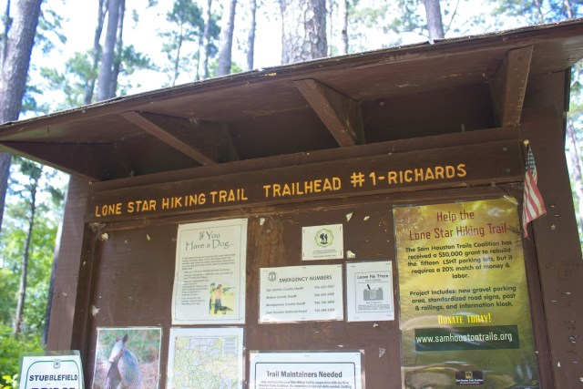 Lone Star Hiking Trail Trailhead 1 Sign