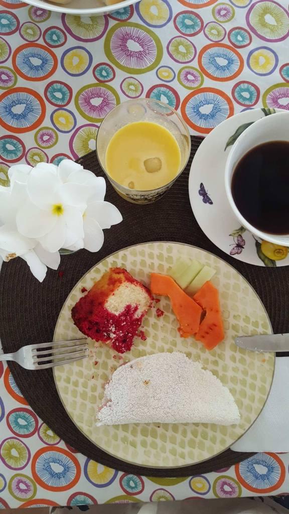 Petit déjeuner à la Villa Mati, Jericoacoara, Ceara, Brésil