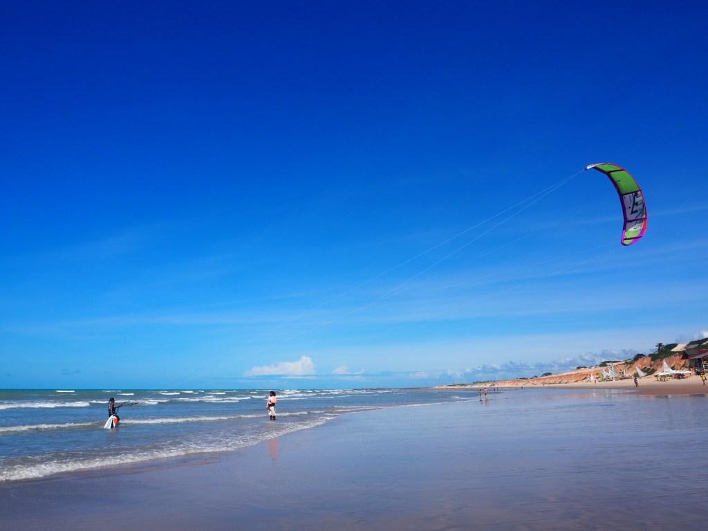 Plage de Canoa Quebrada, Brésil et le kitesurf