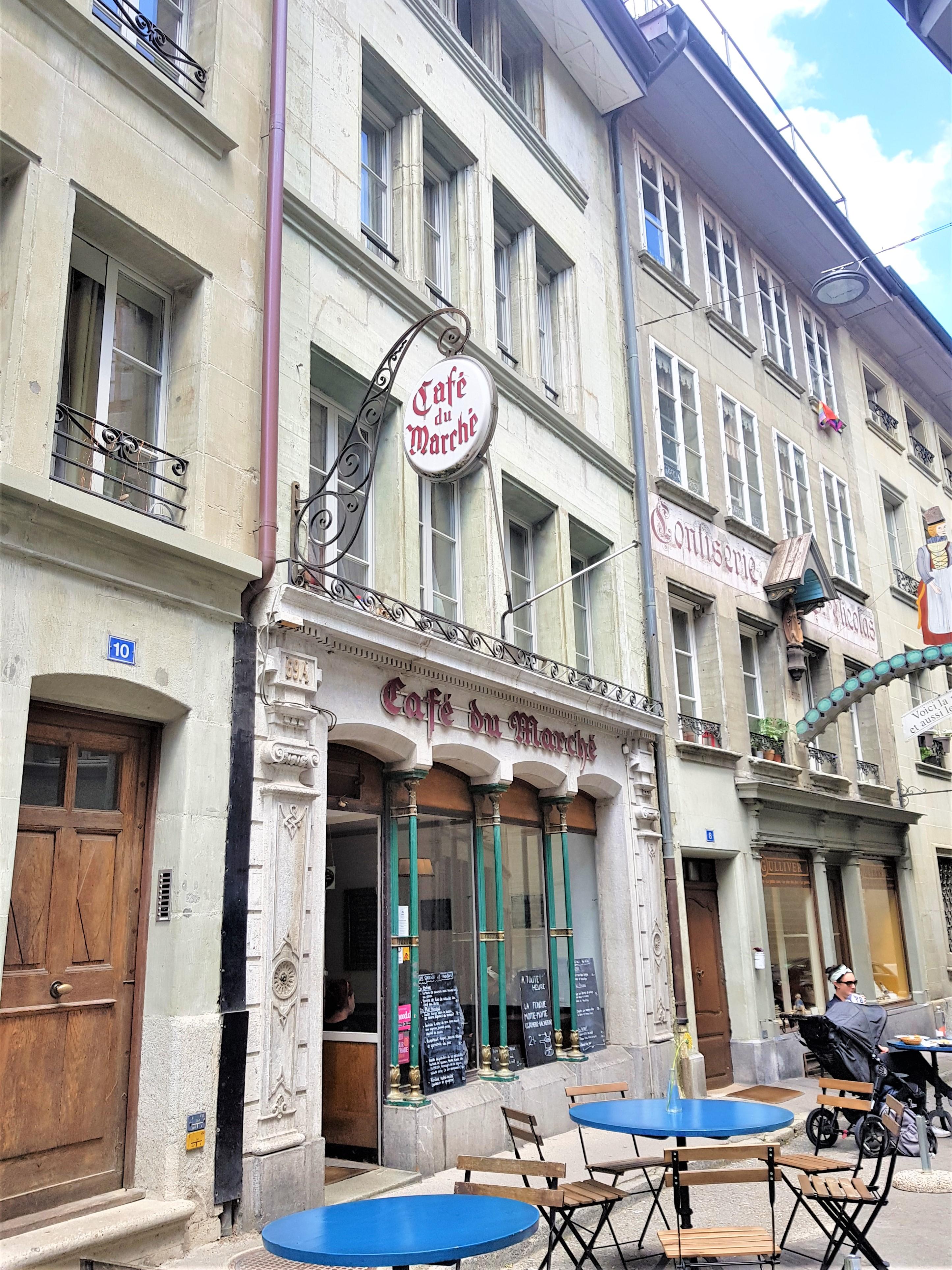 restaurant Clioandco blog voyage Fribourg suisse café du marché