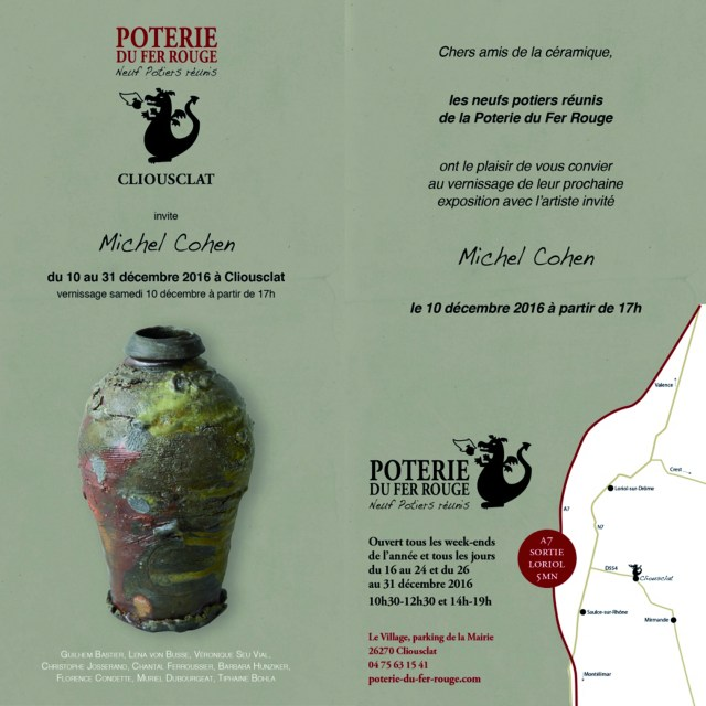 Expo Poterie Fer Rouge Cliousclat