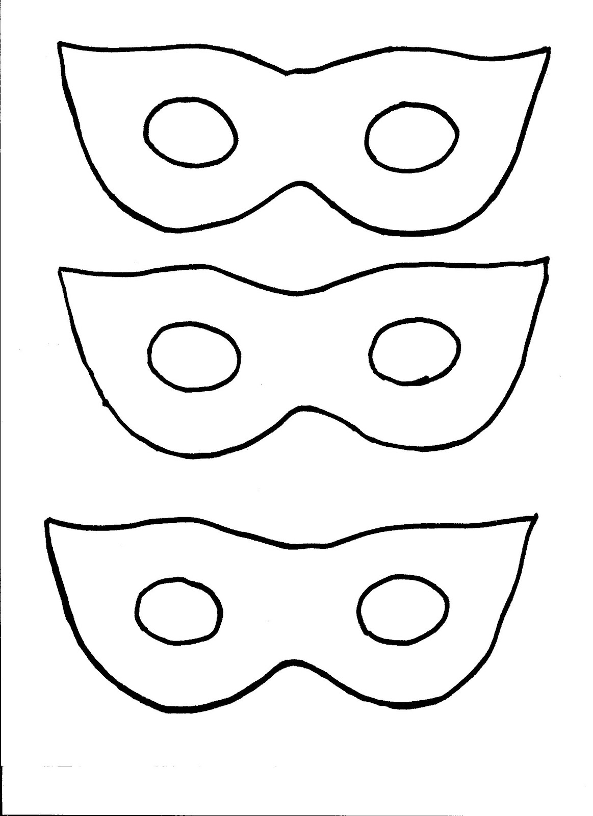 Scary Mask Template