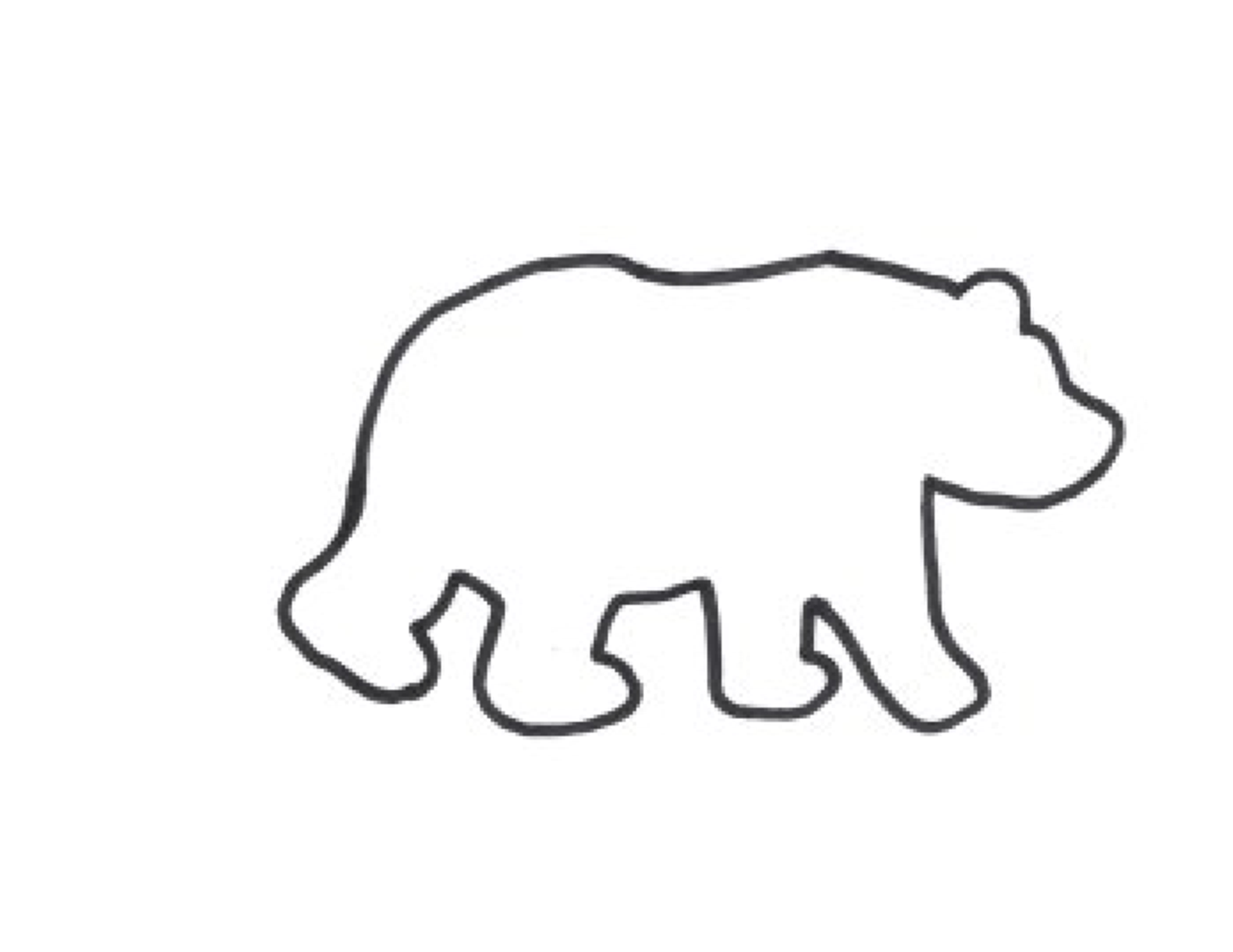 Polar Bear Outline