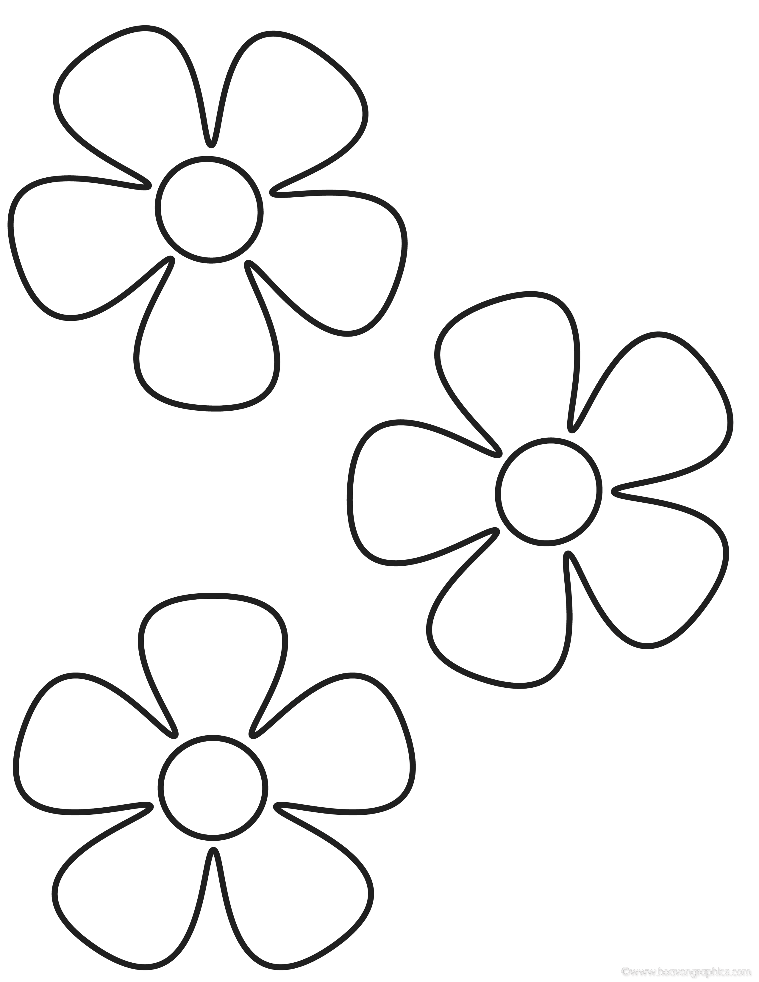 Simple Flower Coloring Pages