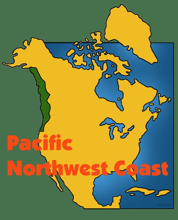 Pacific Northwest Coast Map