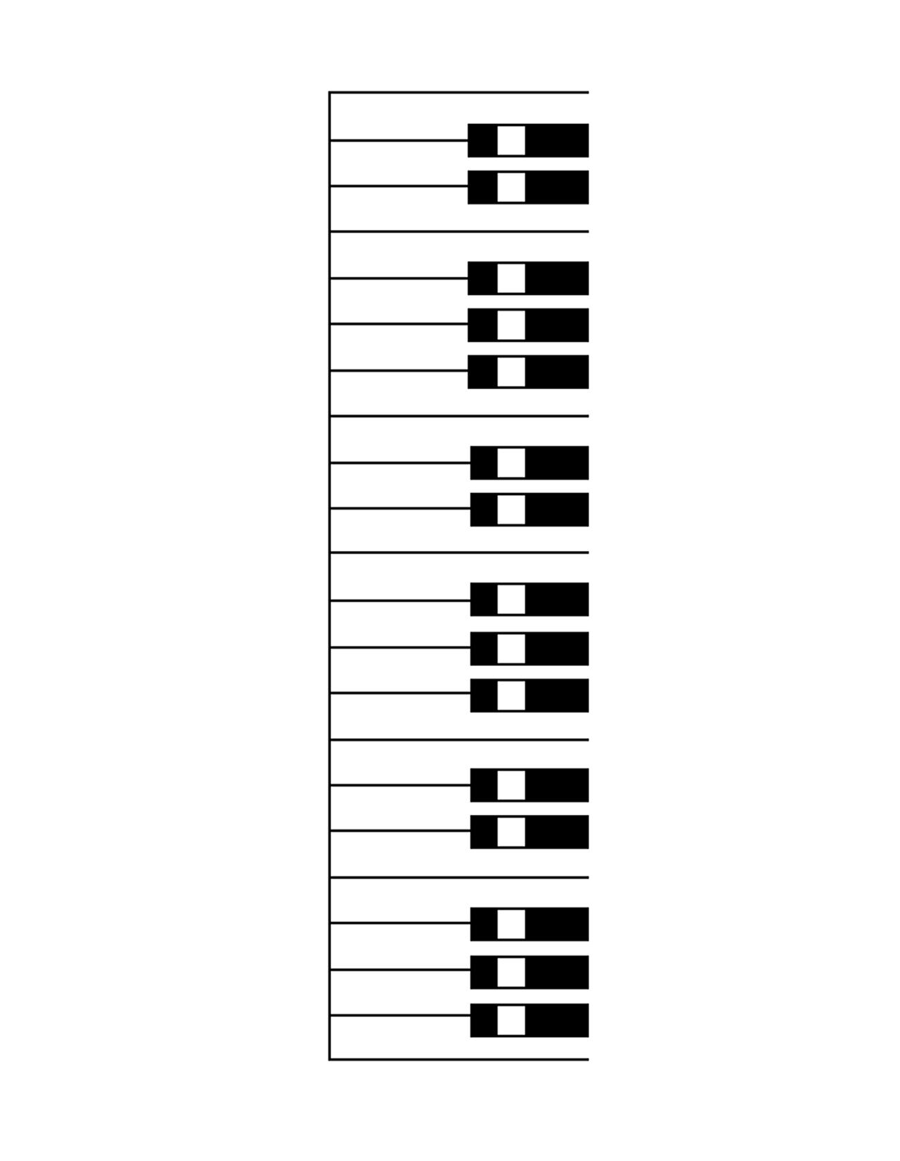 Piano Keyboard Layout Printable
