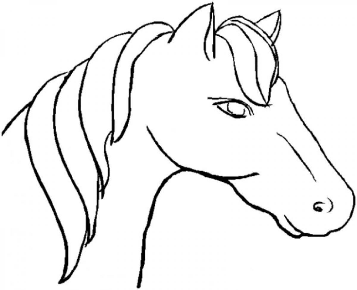 Horses Head Coloring Sheet