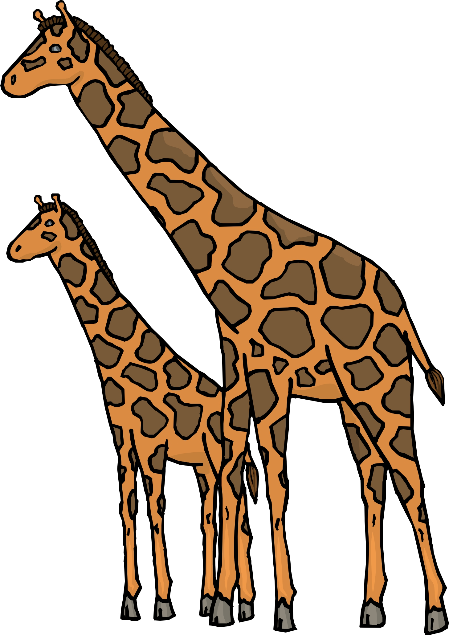 Baby Giraffes Cartoon