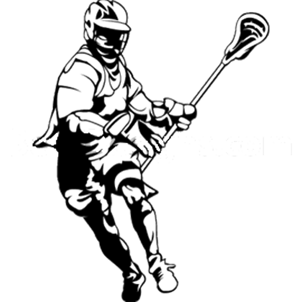 Lacrosse Stick Drawing