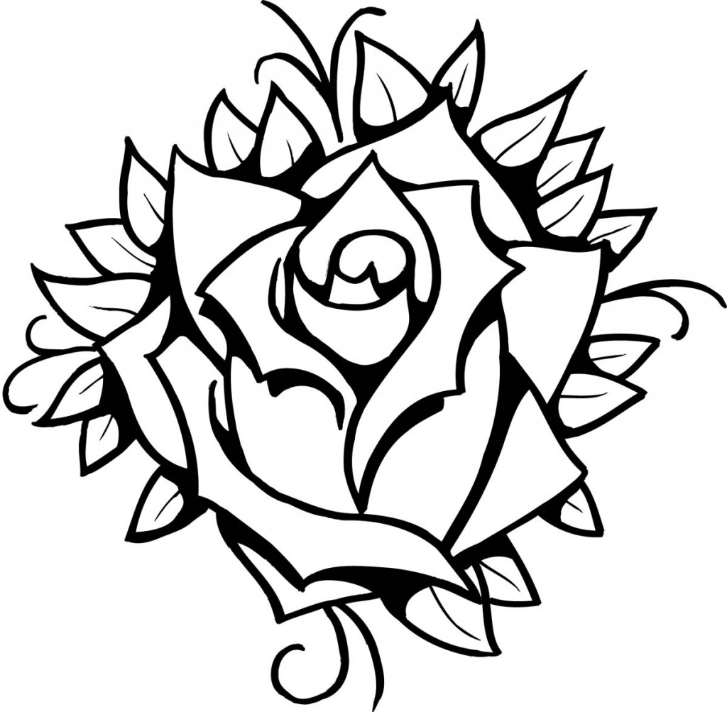 Cool Rose Designs To Draw